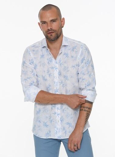 Beymen Business 4B2020200010 Slim Fit Gömlek Baskılı Beyaz